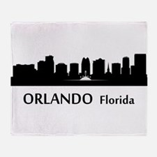 Orlando Cityscape Skyline Throw Blanket