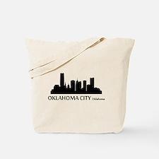 Oklahoma City Cityscape Skyline Tote Bag