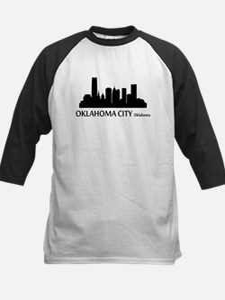 Oklahoma City Cityscape Skyline Baseball Jersey