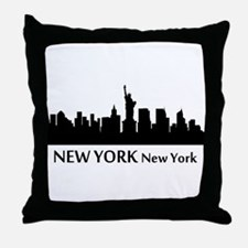 New York Cityscape Skyline Throw Pillow