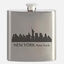 New York Cityscape Skyline Flask