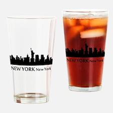 New York Cityscape Skyline Drinking Glass