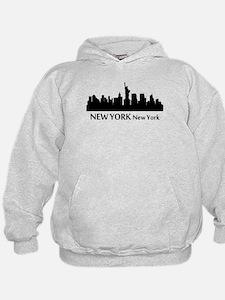 New York Cityscape Skyline Hoodie