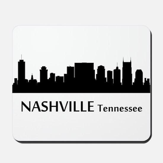 Nashville Cityscape Skyline Mousepad