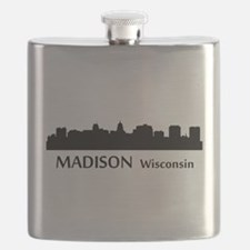 Madison Cityscape Skyline Flask