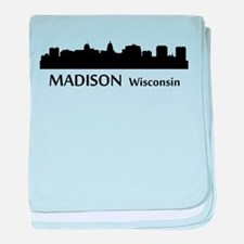 Madison Cityscape Skyline baby blanket