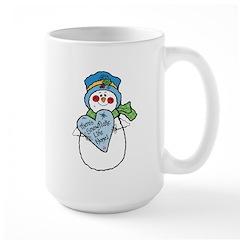 No Snowflake Like Home Snowman Large Mug