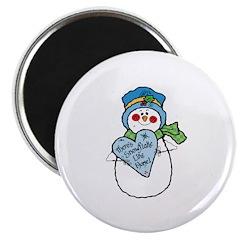 "No Snowflake Like Home Snowman 2.25"" Magnet (10 pa"