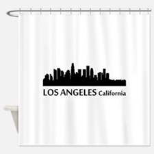 Los Angeles Cityscape Skyline Shower Curtain