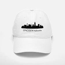 Lincoln Cityscape Skyline Baseball Baseball Baseball Cap