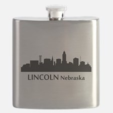 Lincoln Cityscape Skyline Flask