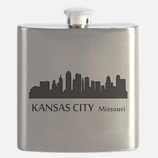 Kansas City Cityscape Skyline Flask