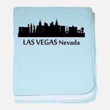 Las Vegas Cityscape Skyline baby blanket