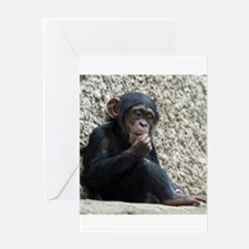 Chimpanzee003 Greeting Cards