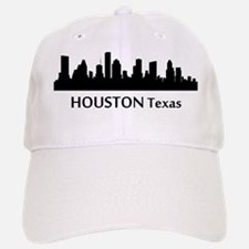 Houston Cityscape Skyline Baseball Baseball Baseball Cap