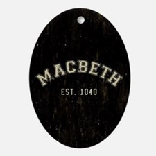 Retro Macbeth Oval Ornament