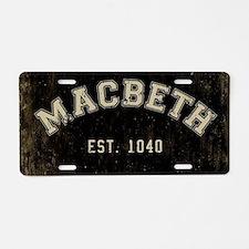 Retro Macbeth Aluminum License Plate