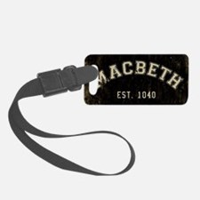 Retro Macbeth Luggage Tag