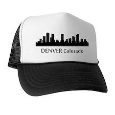 Denver Cityscape Skyline Trucker Hat