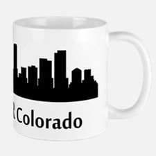 Denver Cityscape Skyline Mugs
