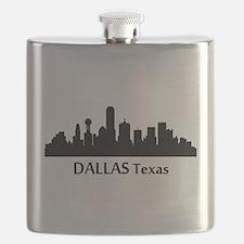 Dallas Cityscape Skyline Flask