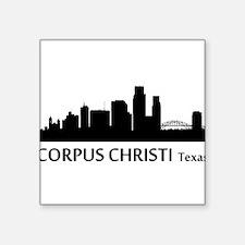 Corpus Christi Cityscape Skyline Sticker