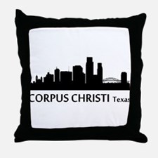 Corpus Christi Cityscape Skyline Throw Pillow