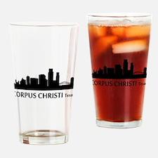 Corpus Christi Cityscape Skyline Drinking Glass