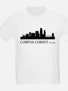 Corpus Christi Cityscape Skyline T-Shirt
