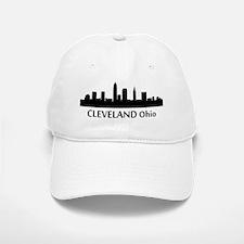 Cleveland Cityscape Skyline Baseball Baseball Baseball Cap
