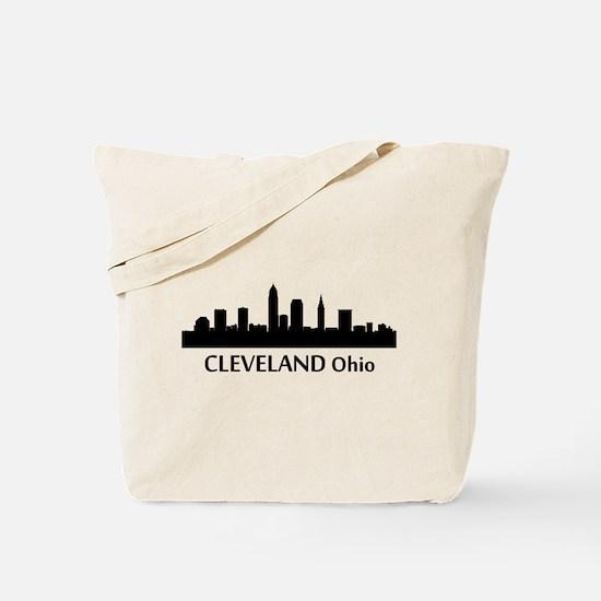 Cleveland Cityscape Skyline Tote Bag