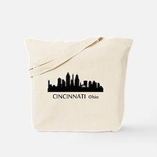 Cincinnati Cityscape Skyline Tote Bag