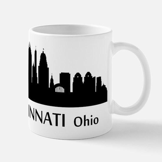 Cincinnati Cityscape Skyline Mugs