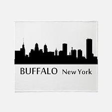 Buffalo Cityscape Skyline Throw Blanket
