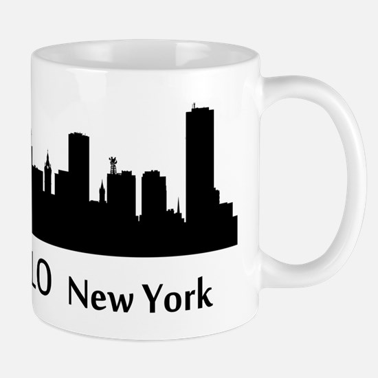 Buffalo Cityscape Skyline Mugs