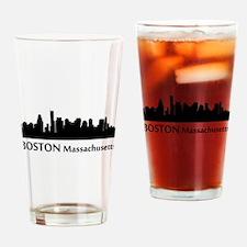 Boston Cityscape Skyline Drinking Glass