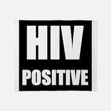 HIV Positive Throw Blanket