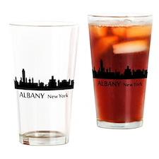Albany Cityscape Skyline Drinking Glass