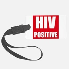HIV Positive Luggage Tag