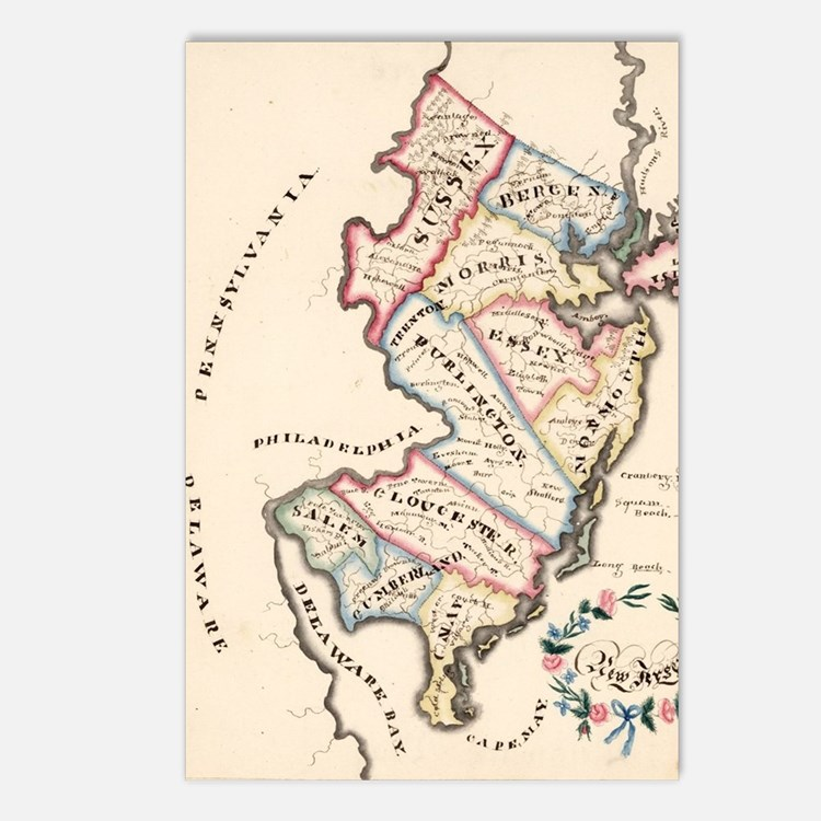 Cute New jersey Postcards (Package of 8)