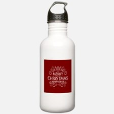 Red Merry Christmas Ho Water Bottle
