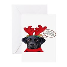 Unique Funny labrador Greeting Cards (Pk of 20)