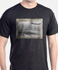 B17 Formation Over Map T-Shirt