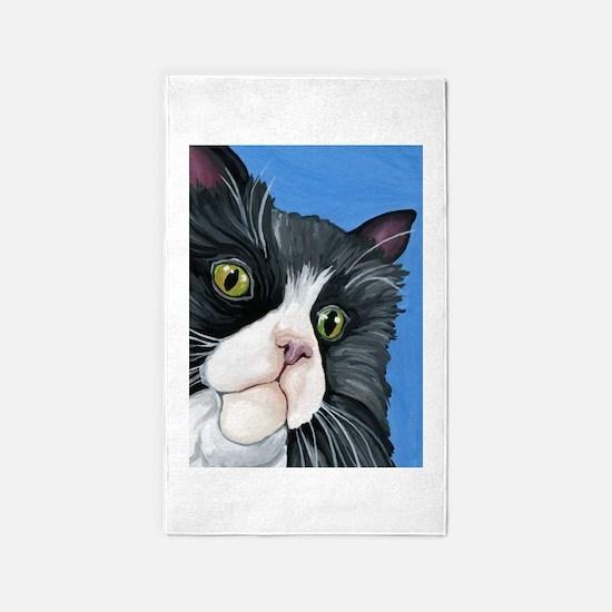 Tuxedo Cat Area Rug