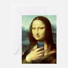 Mona Lisa Selfie Greeting Cards