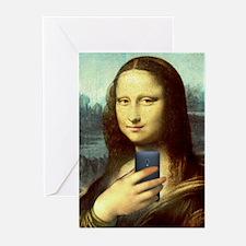 Mona Lisa Selfie Greeting Cards