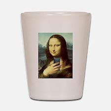 Mona Lisa Selfie Shot Glass