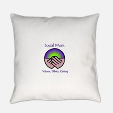 Social Work Values Everyday Pillow