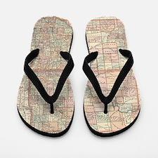 Unique Vintage north dakota Flip Flops