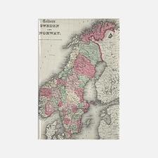 Cute Swedish map Rectangle Magnet